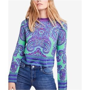 nwt // free people new age cropped top